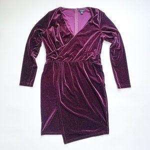 Le Chateau Velour Wrap Dress